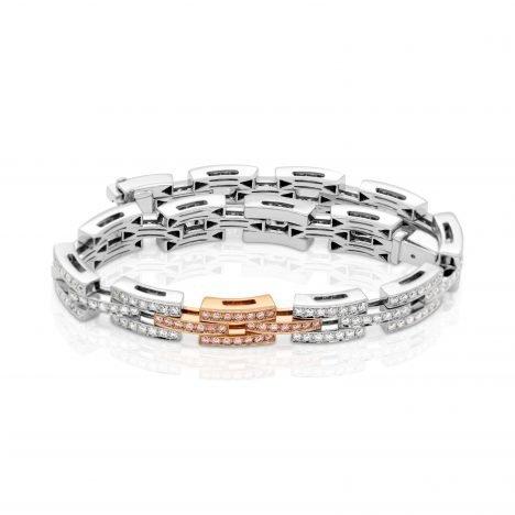 Diamond Bracelet with Argyle Pink Diamonds