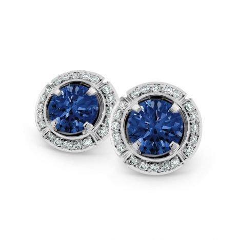 Sun Struck Sapphire Earrings
